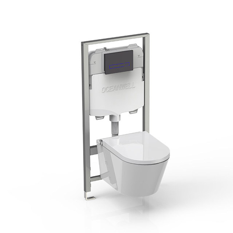 Bidet seat with concealed cistern flushing